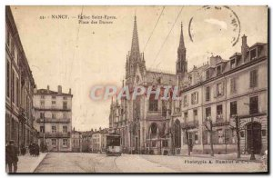 Old Postcard Nancy Eglise Saint Epvre Ladies of Tramway Place