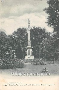Soldiers' Monument & Common - Lawrence, Massachusetts MA