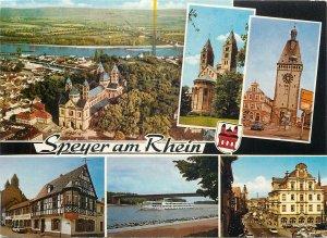Germany Postcard Speyer am Rhein different aspects crest