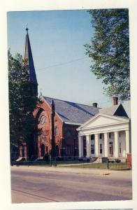 Ballston, Spa, New York/NY Postcard, St Mary's Catholic Church & Rectory
