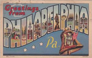 Pennsylvania Philadelphia Greetings From Philadelphia