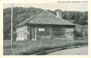 VT, Springfield, Vermont, The Eureka School, Merrimack Post Card