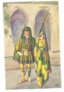 Paggi delle storiche Contrase di Siena, BRUCO, Page with Flag, Toscana, Italy...