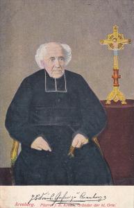 Priest & A Cross Beside Him, Pfarrel J. B. Kraus, Grunder Der Hl. Orte, Arenb...