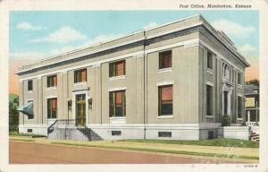 Postcard Post Office Manhattan Kansas