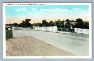 TOMS RIVER NJ APPROACH TO NEW STATE BRIDGE ANTIQUE POSTCARD