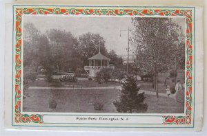 FLEMINGTON NJ POSTCARD FOLDER antique