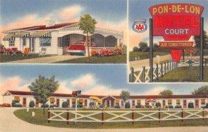 Walton Kentucky Pon-De-Lon Motel Vintage Postcard AA39804