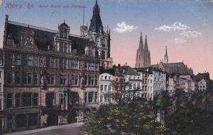 KOLN, North Rine-Westphalia, Germany, 1900-1910's; Alter Markt Mit Rathaus