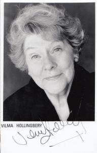 Vilma Hollingbery Babylon Movie The Bill Hand Signed Photo