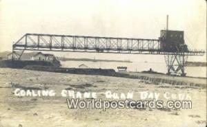 Quan Bay Republic of Cuba Coaling Crane - real photo Quan Bay Coaling Crane -...