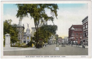 New Britain, Conn, Main Street From The Center