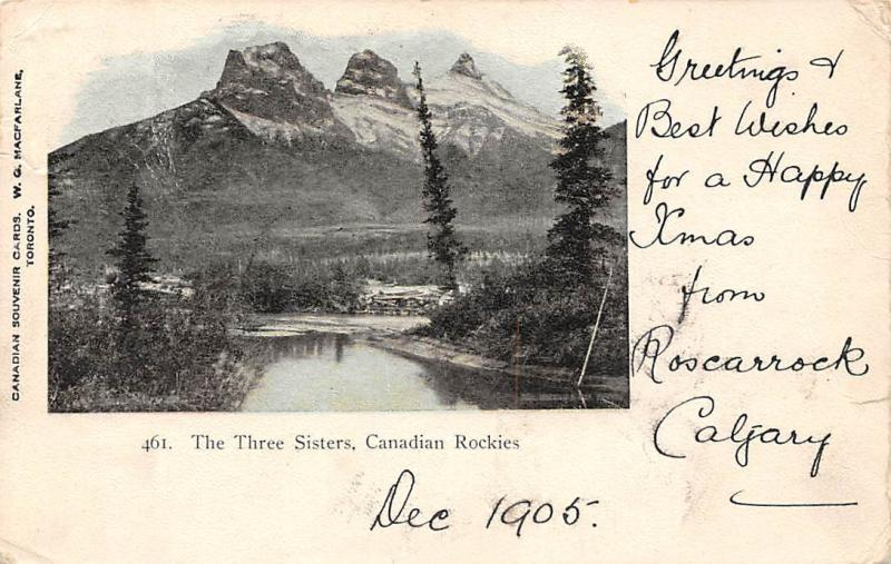 Toronto Canadian Rockies The Three Sisters Greetings Best Wishes Mountains 1905