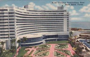 Florida Miami Beach Fabulous Fontainebleau Hotel 1957