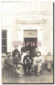 PHOTO CARD Dear Hotel - wine - Wein - wine - cards - playing cards - Old Post...