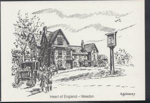 Northamptonshire Postcard - Heart of England Pub, Weedon  RR3234