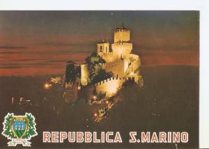 Postal 032306 : Repubblica di San Marino. La prima Torre - Notturno