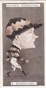 Player Vintage Cigarette Card Racing Caricatures 1925 No 32 K Robertson