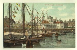 tp6758 - Suffolk - Flags on the Yachts at Yacht Basin, in Lowestoft -  Postcard