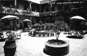 Mexico City Mexico Hotel de Cortes Courtyard Real Photo Postcard JA4741577
