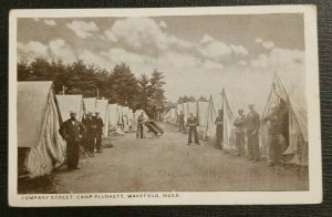 Mint Vintage Photo Postcard US Navy Camp Plunkett Wakefield Massachusetts