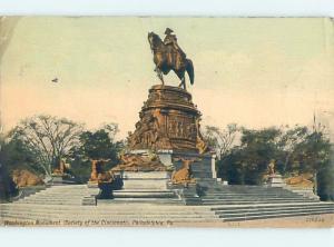 W-Border GEORGE WASHINGTON MONUMENT Philadelphia Pennsylvania PA F2822