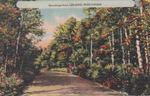 Wisconsin Greetings From Leland 1945
