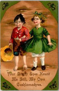 1910 ST. PATRICK'S DAY Greetings Postcard Your Bright Eyes Haunt Me Still…