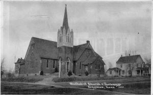 Kingman Kansas~Methodist Church & Parsonage~1915 CU Williams Photoette~Postcard