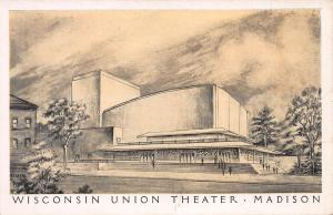 Wisconsin Union Theater, Madison, Wisconsin, Early Postcard, Unused