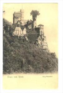 Gruss vom Rhein, Burg Rheinstein, Germany , PU-1907