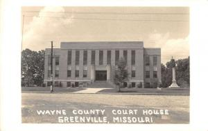 Greenville Missouri Wayne Court House Real Photo Antique Postcard K38714