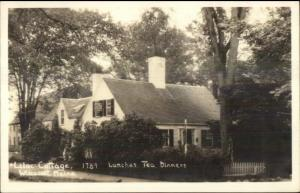 Wiscasset ME Lilac Cottage Lunch Tea Real Photo Postcard