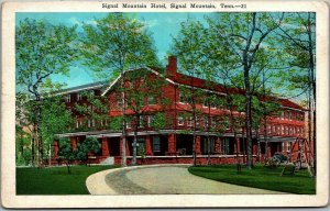 Vintage Tennessee Postcard SIGNAL MOUNTAIN HOTEL Building View Kropp c1930s