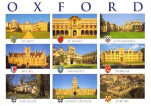 Postcard OXFORD Colleges Multiview Large Format 170x120mm