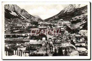 Old Postcard The Alps Briancon General view