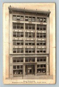 St Louis MO-Missouri, Rosenthal Sloan Millinery Company, Vintage c1909 Postcard