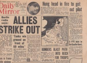 Daily Mirror German Radio Tanks Are Winning WW2 Orig War Newspaper
