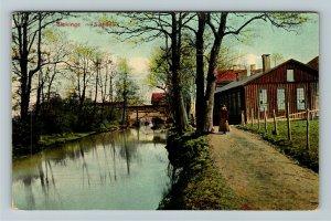 Blekinge Sweden, Scenic View Vintage Postcard
