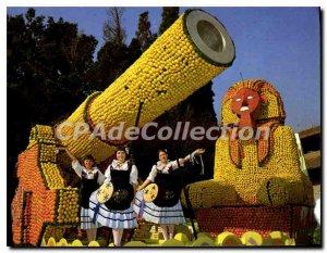 Modern Postcard The Menton lemon Mentonnaise Ftes