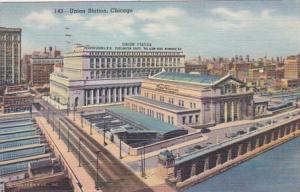 Illinois Chicago Union Station 1946 Curteich