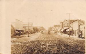 Tripoli Iowa~Main Street~Drug Store~Crossing Cars Sign~Horse Buggy~1911 RPPC