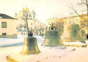 Russian Federation, Russia Old Vintage Antique Post Card Bells by the Blefry ...