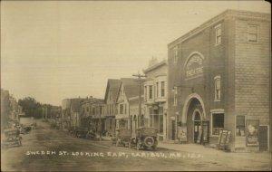 Caribou ME Beautiful Street Scene & Powers Theatre c1910 Real Photo Postcard