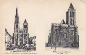 2-Views, Abbaye De Saint-Denis, Paris, France, 1900-1910s