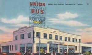 Florida Jacksonville Union Bus Station 1954 sk366