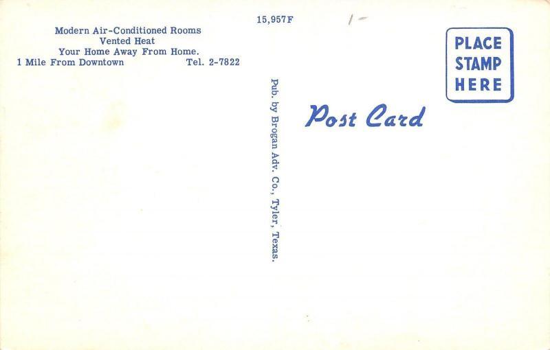 Texarkana Arkansas~The Ritz Motel~Roadside Highway 67~Glossy~1950s Postcard