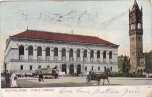 Public Library Boston Massachusetts 1908