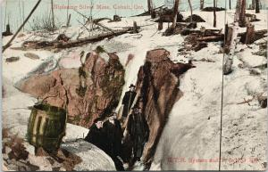 Nipissing Silver Mine Cobalt Ontario ON GTR System T & NO Railway Postcard E58