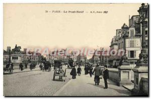 Postcard Old Paris Pont Neuf